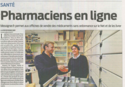 Sud Ouest : Pharmaciens en ligne, MeSoigner.fr permet aux officines de vendre des médicaments sans ordonnance sur le Net et de les livrer
