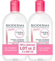 CREALINE TS H2O Solution micellaire sans parfum nettoyante apaisante 2Fl/500ml à Sarrebourg