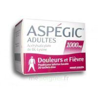 ASPEGIC ADULTES 1000 mg, poudre pour solution buvable en sachet-dose 20 à Sarrebourg