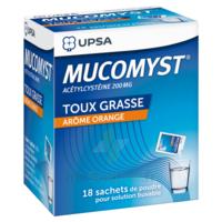 MUCOMYST 200 mg Poudre pour solution buvable en sachet B/18 à Sarrebourg