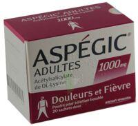 ASPEGIC ADULTES 1000 mg, poudre pour solution buvable en sachet-dose 15 à Sarrebourg