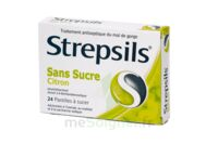 STREPSILS CITRON SANS SUCRE, pastille édulcorée à l'isomalt, au maltitol et à la saccharine sodique à Sarrebourg