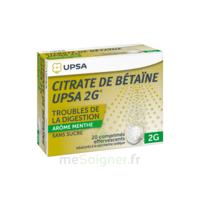 Citrate de Bétaïne UPSA 2 g Comprimés effervescents sans sucre menthe édulcoré à la saccharine sodique T/20 à Sarrebourg