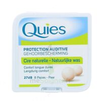 QUIES PROTECTION AUDITIVE CIRE NATURELLE 8 PAIRES à Sarrebourg