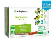 Arkofluide Bio Ultraextract Coffret programme détox 3x10 Ampoules/10ml à Sarrebourg
