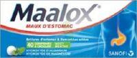 MAALOX HYDROXYDE D'ALUMINIUM/HYDROXYDE DE MAGNESIUM 400 mg/400 mg Cpr à croquer maux d'estomac Plq/40 à Sarrebourg