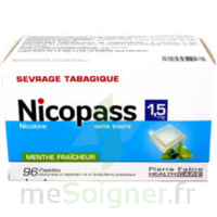 Nicopass 1,5 Mg Pastille Sans Sucre Menthe Fraîcheur Plq/96 à Sarrebourg