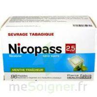 Nicopass 2,5 mg Pastille menthe fraîcheur sans sucre Plq/96 à Sarrebourg
