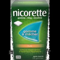 Nicorette 2 mg Gomme à mâcher médicamenteuse sans sucre fruits Plq/30 à Sarrebourg