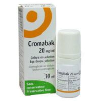 CROMABAK 20 mg/ml, collyre en solution à Sarrebourg