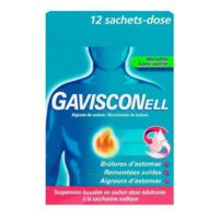 GAVISCONELL Suspension buvable sachet-dose menthe sans sucre 12Sach/10ml à Sarrebourg