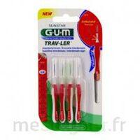 GUM TRAV - LER, 0,8 mm, manche rouge , blister 4 à Sarrebourg