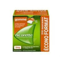 Nicorette 2 mg Gomme à mâcher médicamenteuse sans sucre fruits Plq/210 à Sarrebourg
