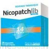 NICOPATCHLIB 14 mg/24 h Dispositifs transdermiques B/28 à Sarrebourg