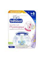 Bébisol Slim Sucette physiologique silicone nuit +6mois T2 à Sarrebourg
