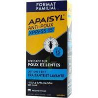 Apaisyl Anti-poux Xpress 15' Lotion antipoux et lente 100ml+peigne à Sarrebourg